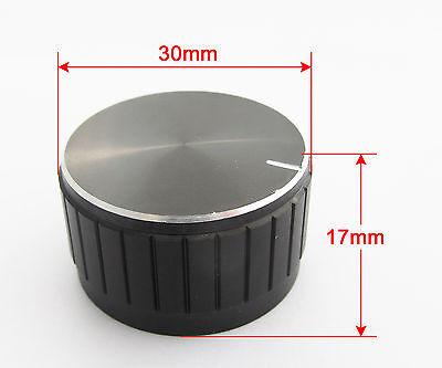 1pc 30x17mm Black Circular Knob Aluminium Cover for Audio Volume Tone Control