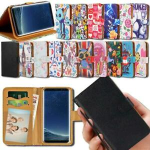 Flip-Leather-Smart-Stand-Wallet-Cover-Case-For-Samsung-Galaxy-Mobile-Phones
