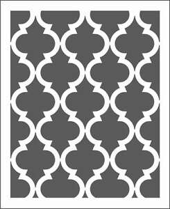 moroccan wall stencil pattern choose size hole large scale for