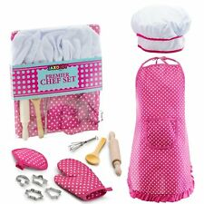 Premier Chef Set Complete Kids Kitchen Gift Playset Chefs Hat Apron Cooking 3