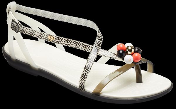 Crocs Drew Barrymore Isabella Graphic Flat Sandalen Beach Summer Damenschuhe Holiday