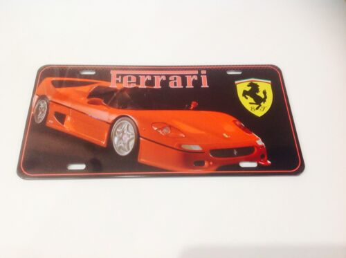 FERRARI SPORTS CAR LICENCE PLATE// ITALY   Wall Decor Vintage Sign Tin Plaque
