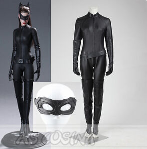 Image is loading The-Dark-Knight-Rises-Selina-Kyle-Catwoman-Cosplay- & The Dark Knight Rises Selina Kyle Catwoman Cosplay Costume Halloween ...