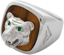TIGER RING WITH TIGER EYE 925 STERLING SILVER HALLMARKED NEW FROM ARI D NORMAN