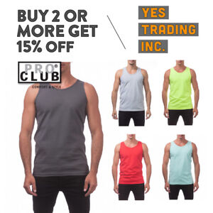 4fab2ef95 Image is loading PROCLUB-PRO-CLUB-MENS-CASUAL-TANK-TOP-MUSCLE-