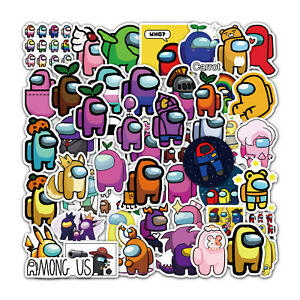 100pcs Among us Stickers for laptop, Hydroflask, Skateboard, waterproof vinyl