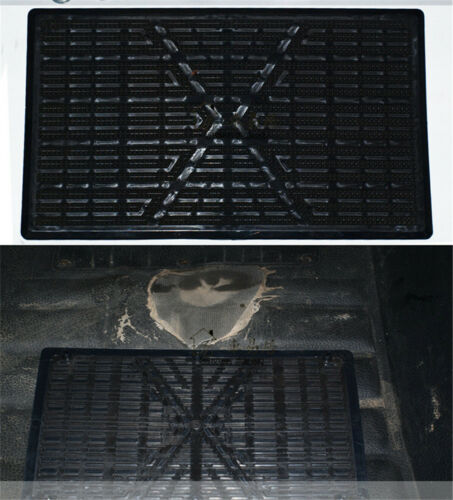 25x16cm Car Floor Carpet Mat Patch Foot Heel Plate Pedal Pad Fit Car SUV Pickup