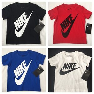 Nike-Boys-Short-Sleeve-T-Shirt-2T-3T-4T-White-Red-Black-Blue-Gift-18