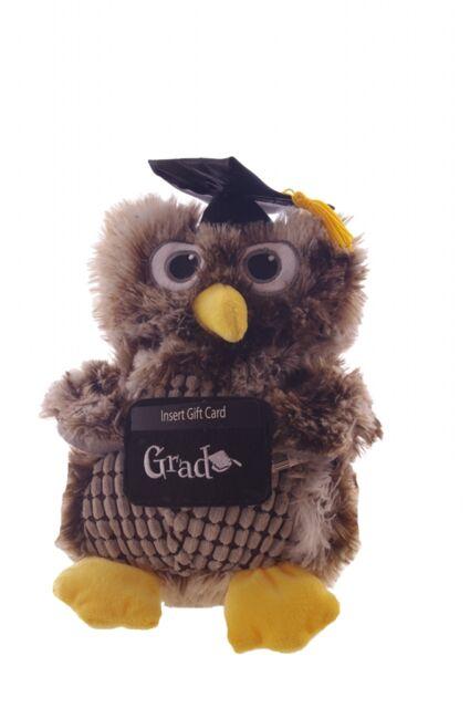 "12/"" Graduation Owl Stuffed Animal Card Money Holder Party Favor Decoration NEW"
