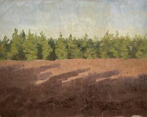 Paolo-Westerfrolke-1886-1975-Dipinto-a-Olio-Paesaggio-Sul-Bordo-Tannen