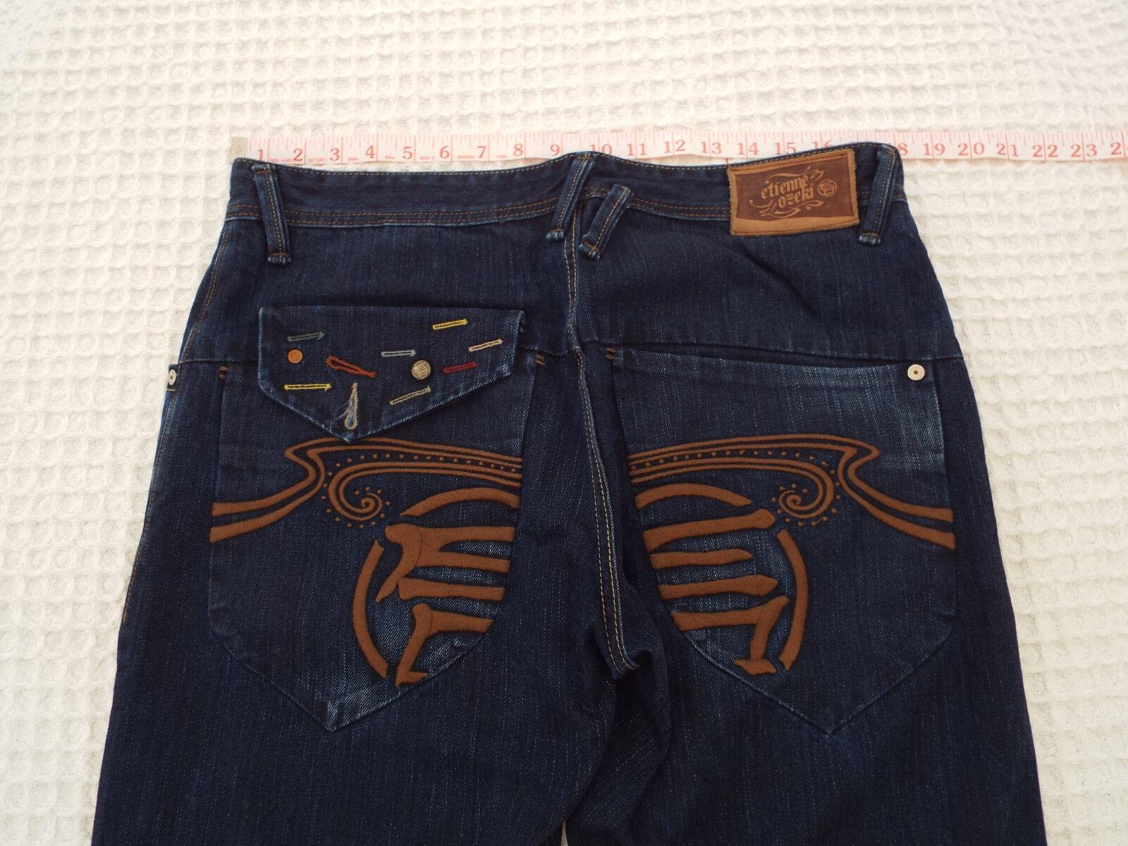ETIENNE OZEKI Mens NEW DALLAS FIT Jeans  Size W34-36 L32  RRP -150+