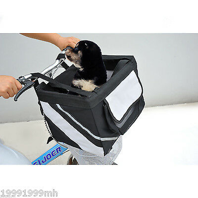 PawHut Travel Pet Carrier Bicycle Dog Cat Kennel Portable Tote Crate Basket