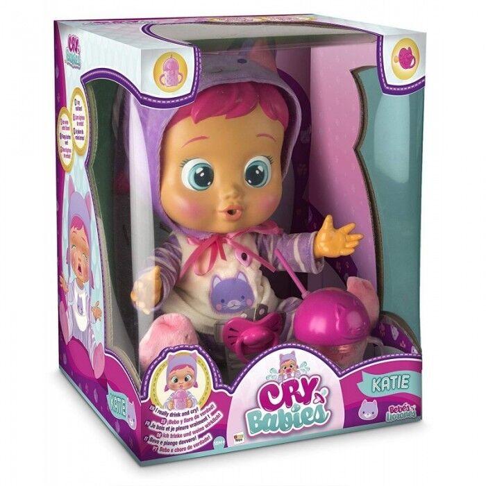 IMC giocattoli CRY BABIES KATIE BEVE E PIANGE