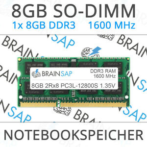 8GB-DDR3-RAM-SO-DIMM-PC3L-12800S-2Rx8-1600-MHz-1-35V-Notebook-Laptop-Speicher
