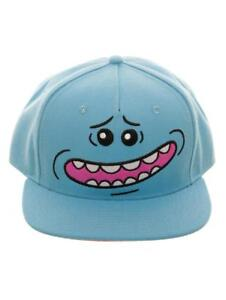 c7818f4aa1e OFFICIAL RICK AND MORTY - MR MEESEEKS FACE BLUE SNAPBACK CAP (BRAND ...