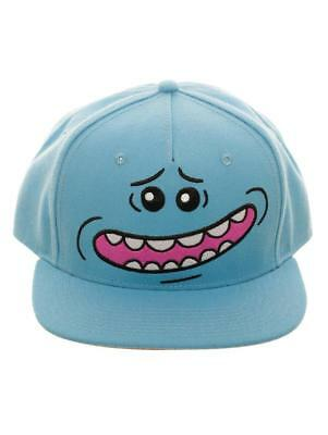 OFFICIAL RICK AND MORTY BLACK SNAPBACK CAP WITH PRINTER VISOR BRAND NEW