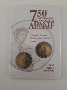 2 Euro commémorative de Italie 2015 (BU) - Dante Alighieri