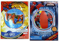 Marvel Spiderman Set - Swim Wings Arm Floats Floaties + Pool Beach Ball 3+