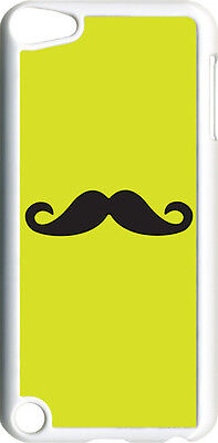 Plain Red and Black Mustache on iPod Touch 5th Gen 5G TPU Case Cover