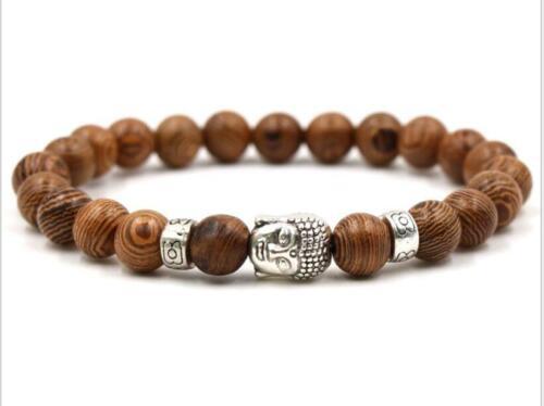 moine de l/'énergie Extensible Unisexe Hommes Lucky À faire soi-même 8 mm Bois de santal bracelet 7.5 in environ 19.05 cm