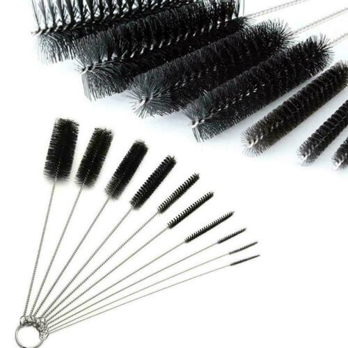 10PC 8 inch Long Nylon brushes ROUND TUBE GUN CLEANING BOT BRUSHES BRUSH D4A8