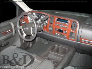 Chevy Silverado Wood Grain Dash Kit Fits 2010 2013 With