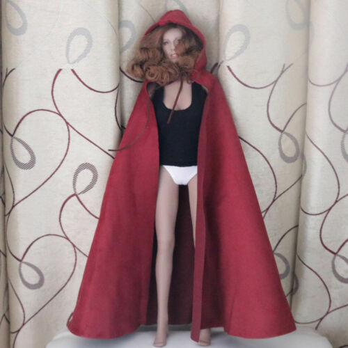 "1:6th Female Soldier CLoak Hooded Cape For 12/"" Phicen HT Women Body Doll"
