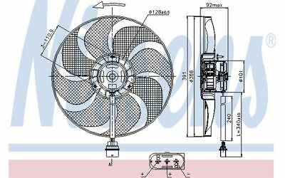 VALEO Intérieur Ventilateur Ventilateur Moteur Ventilateur moteur Audi VW Seat Skoda 1903151