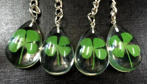3 days time Crazy prices 10 pcs fashion four leaf clover chic keychain