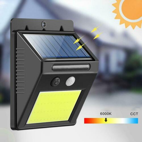 4pcs 48LED COB Wasserdichte Solarleuchte Außen mit Bewegungsmelder Wandleuchte