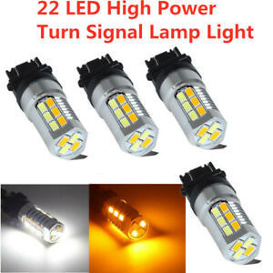 2x 3157 Dual Color Amber//White 6000K 5630 LED Projector Turn Signal Lights bulbs