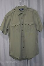 Polo Ralph Lauren WW2 Reproduction Army Military Fatigue Button B-11 Shirt Large