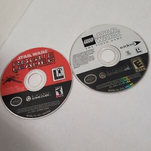 Lot of 2 - Rogue Leader Rogue Squadron & Lego Star Wars - Gamecube Disc Only