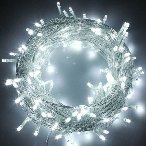 Fairy String Lights 100-1000 LED Waterproof Garden Xmas Tree Party Mains Plug In