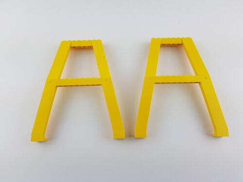 Lego ® City 2635 kranstützen 2 unidades verladekran grúa amarilla puente de ferrocarril