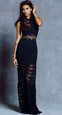 Free People Nightcap Clothing Dixie Lace Maxi Gown Black Size 1 XS $550