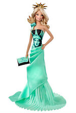 NEW BARBIE STATUE OF LIBERTY DOLLS OF THE WORLD LANDMARK COLLECTION PINK LABEL