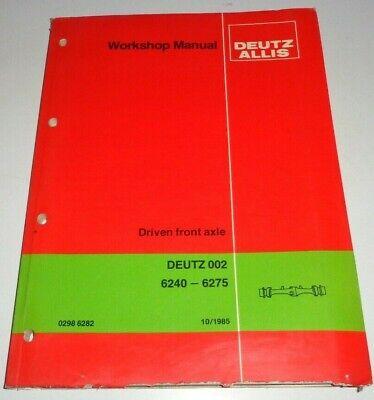 Deutz d5006 tractor manual de instrucciones de manual de instrucciones