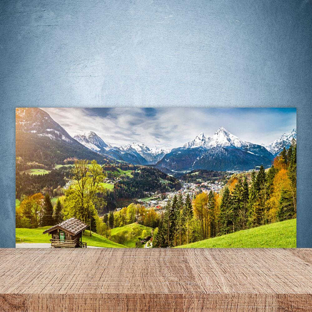 Crédence de cuisine en verre Panneau Paroi 100x50 Paysage Alpes