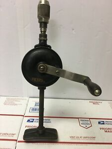 Vintage-YANKEE-NORTH-BROS-No-455-Breast-Hand-Drill-2-Patents-1910-1917