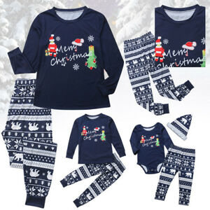 Details about Christmas Family Matching Outfits Pajamas Set Cozy Clothing  Sleepwear Nightwear