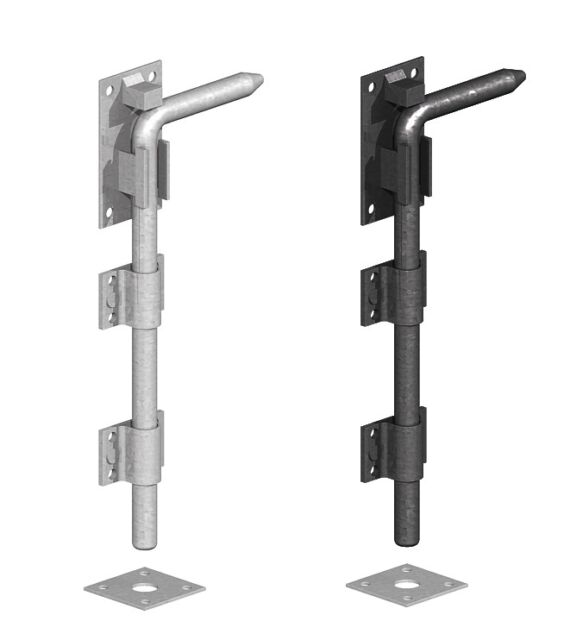 Drop Down Bolts Monkey Tail Heavy Duty Garage Door /& Gate Security UK Quality