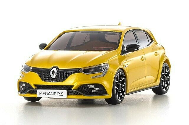 NEW Kyosho ASC MA-03F RENAULT MEGANE R.S. YEL 1:27 Auto Collection FREE US SHIP