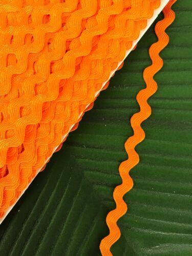 By The Meter Ric Rac Braid Trim 8mm Orange