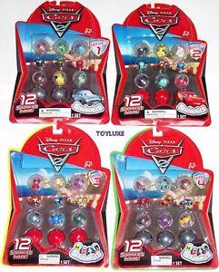 SQUINKIES-12-pack-Disney-PIXAR-Cars-2-Bubbles-Capsules-w-Lightning-McQueen-NIP