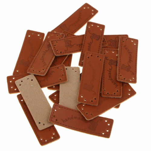 Leather Handmade Labels Tags Sewing DIY Handmade Craft Knit Patches