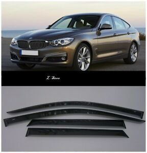 Details About For Bmw 3 Gt F34 2013 2019 Side Window Visors Sun Guard Vent Deflectors