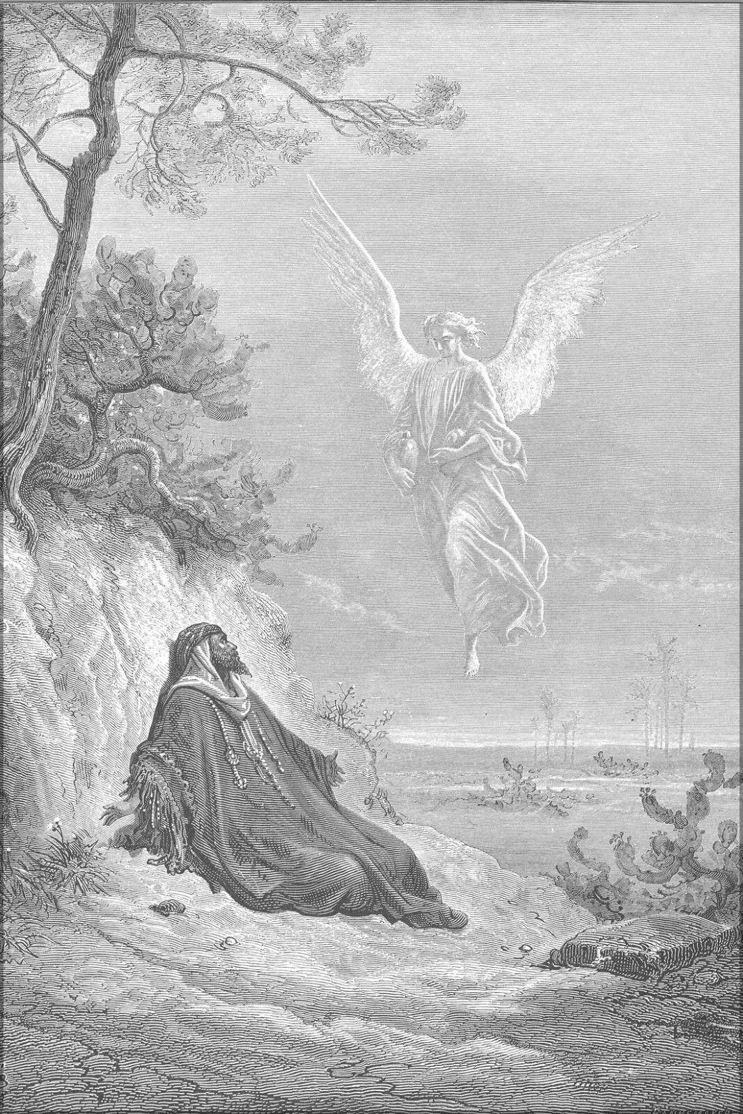 Poster, Molte Misure; Elia Is Nutriente da un Angelo (1Kings (1Kings (1Kings 191-21) 1866 3bc414