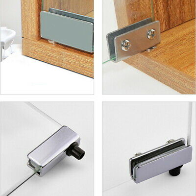 Glass Door Pivot Hinge Gold Pair with Touch Latch Plate