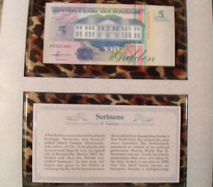 Most-Treasured-Banknotes-Suriname-5-Gulden-Oct-1991-P-136-UNC-prefix-AA